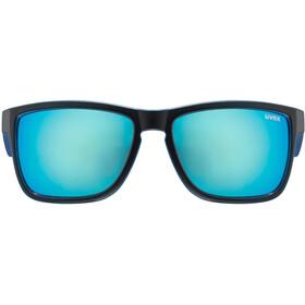 UVEX LGL 39 Cykelbriller, black matt blue/mirror blue
